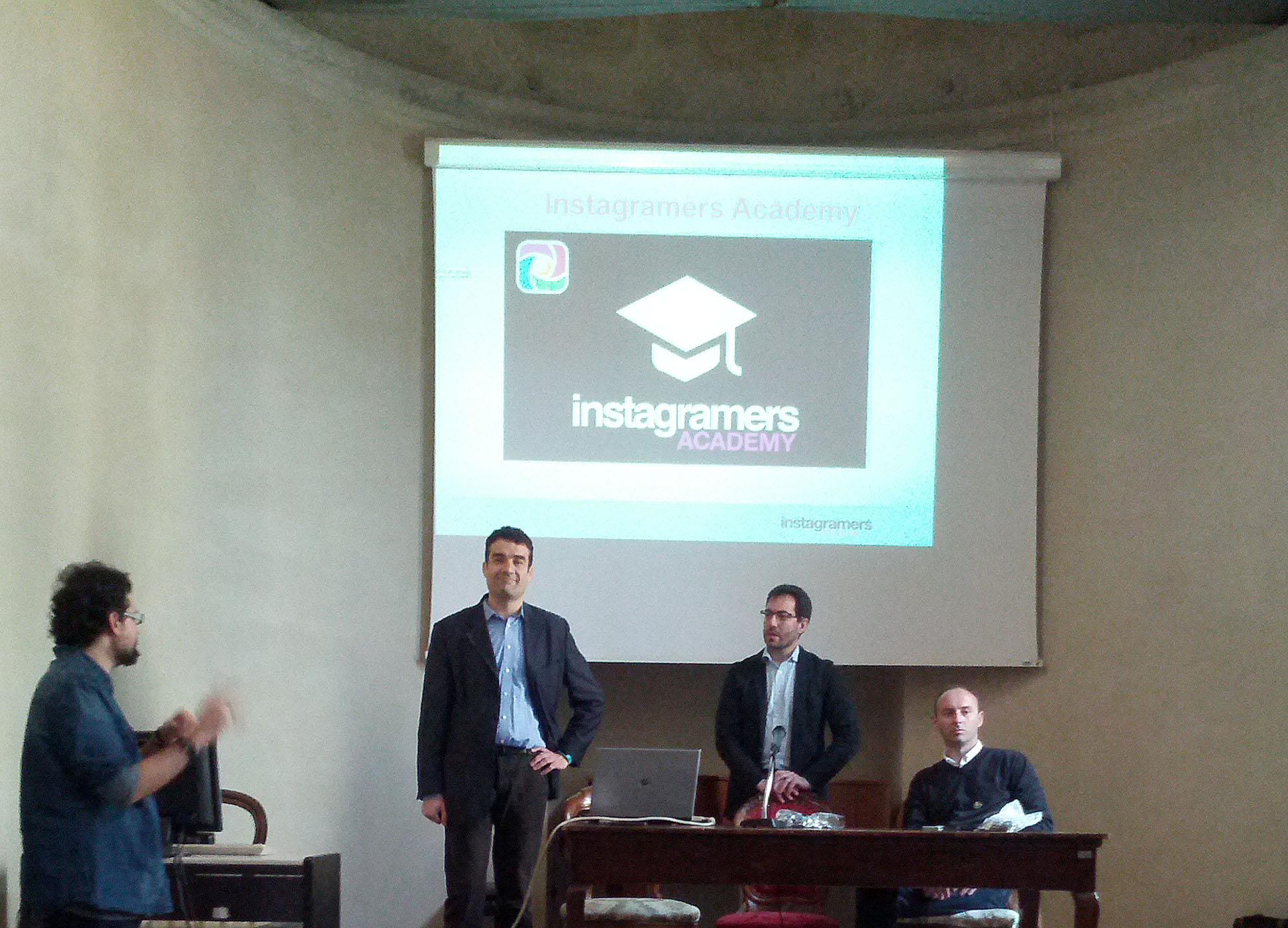 Instagramers Academy con (da sinistra) Davide Morante, Orazio Spoto e Antonio Ficai