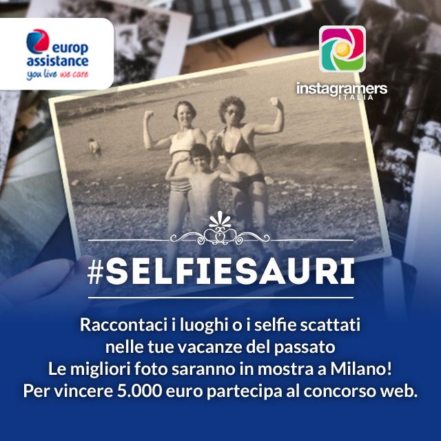 Selfiesauri: i ricordi delle vacanze del passato