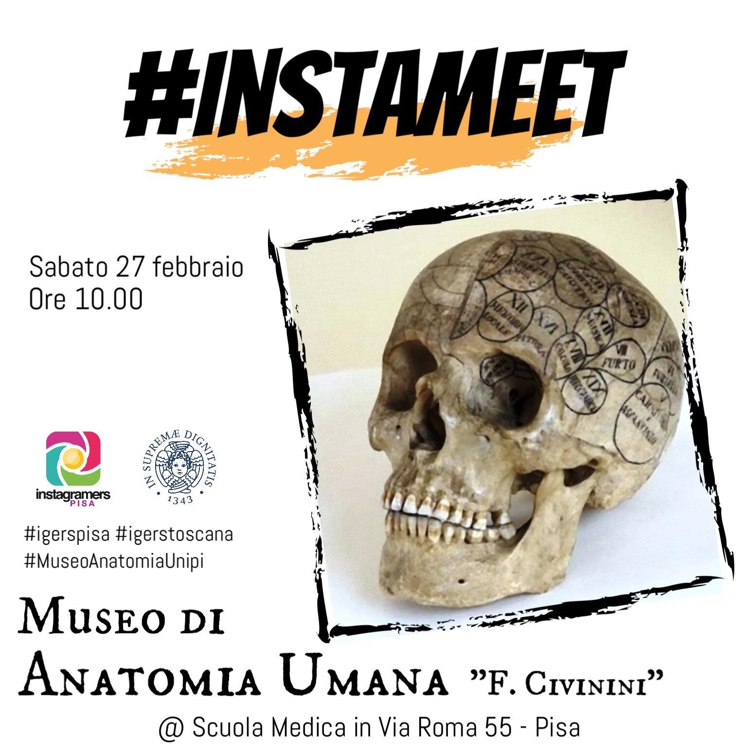 Instameet al Museo di Anatomia Umana con igersPisa