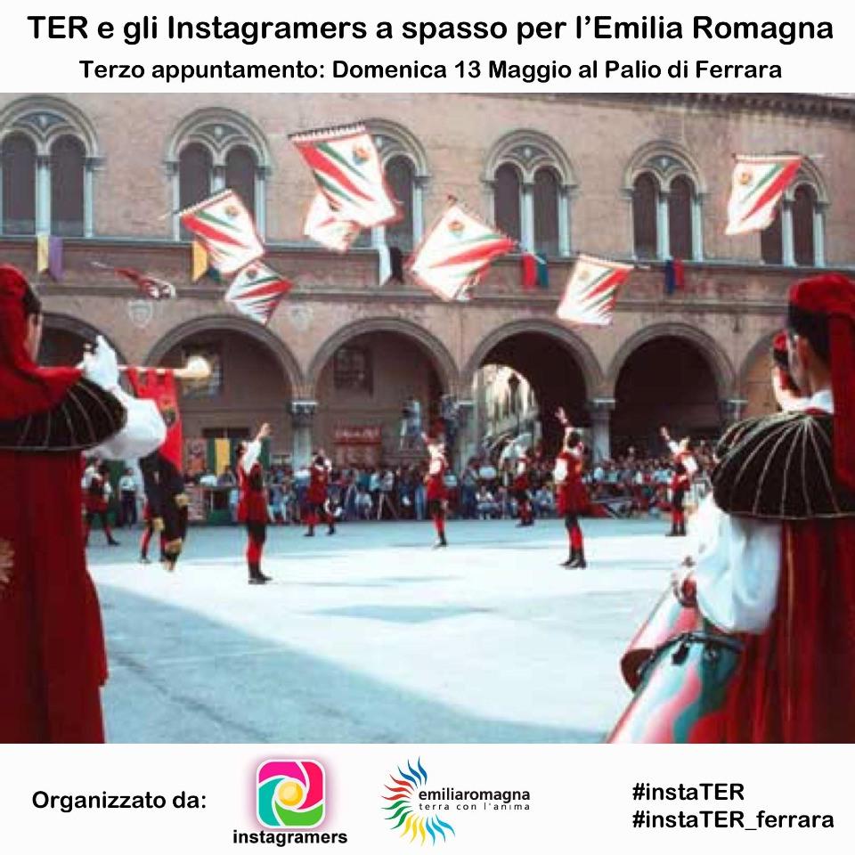 """""""TER e gli Igers a spasso per l'Emilia Romagna"""" – Palio di Ferrara"""