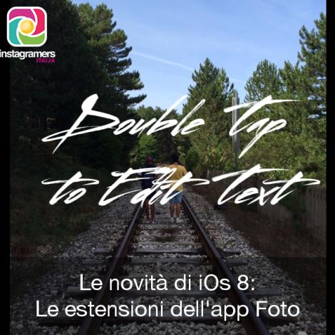 Le novità di iOs 8: le estensioni all'applicazione Foto