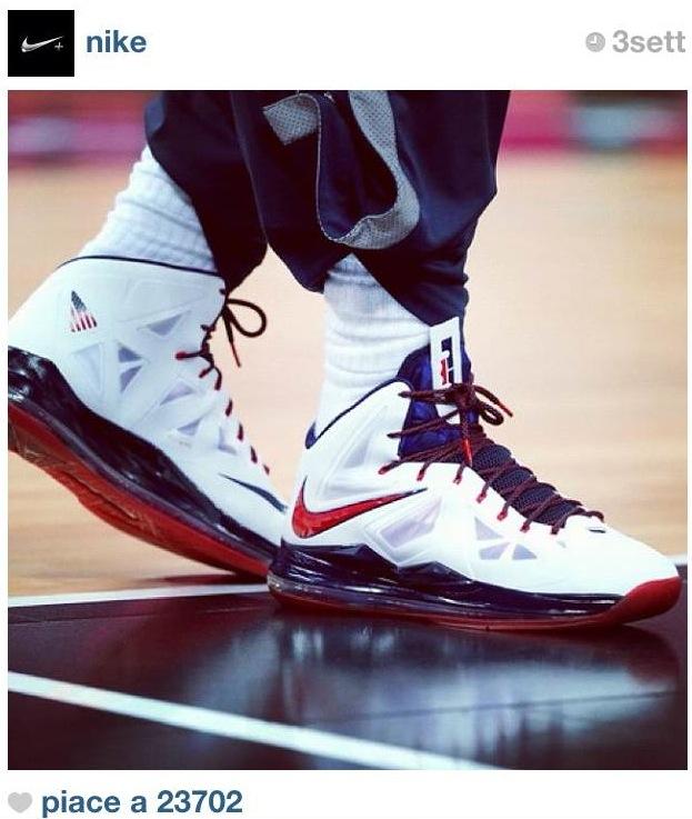 Nike su Instagram con la foto di Le Bron James