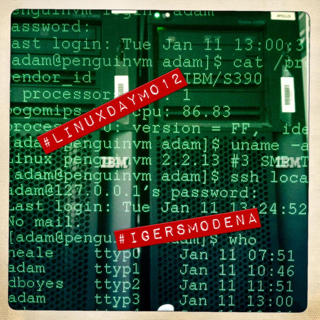 Il Linux Day visto da Instagram con Instagramers Modena
