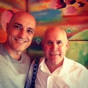 Alessandro Moggi e Steve McCurry. Foto di @alessandromoggi