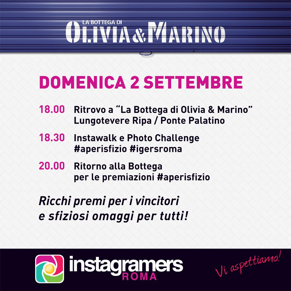2 Settembre Instawalk e challenge con IgersRoma e Olivia&Marino!