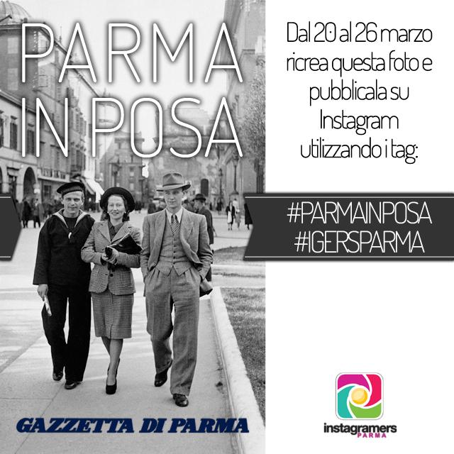 IgersParma con Gazzetta di Parma per Parma in Posa