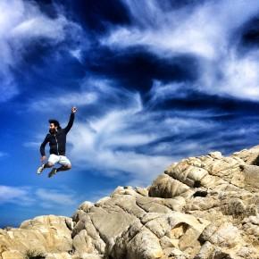 @GiulioTolli e uno dei suoi salti all'Isola d'Elba