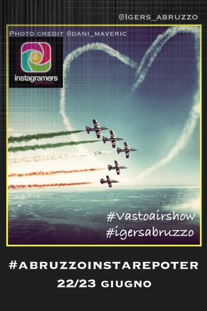 Il tricolore sui cieli d'Abruzzo