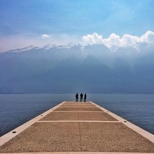 Il pontile di Campione sul Garda. @morenaemme