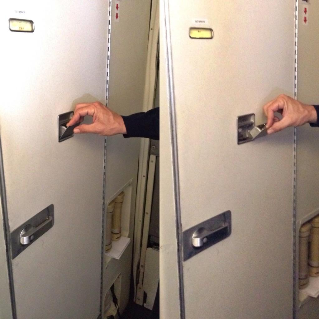il posacenere sulle porte dei bagni degli aerei