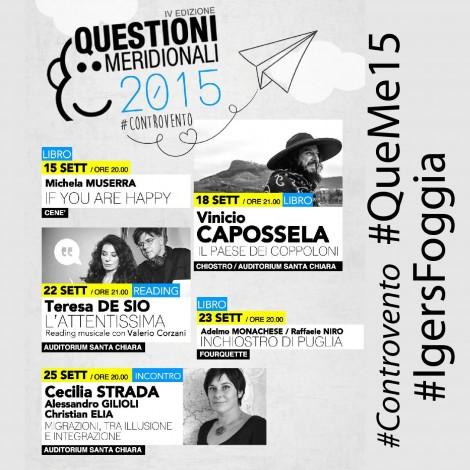 Foggia #Controvento con #QueMe15