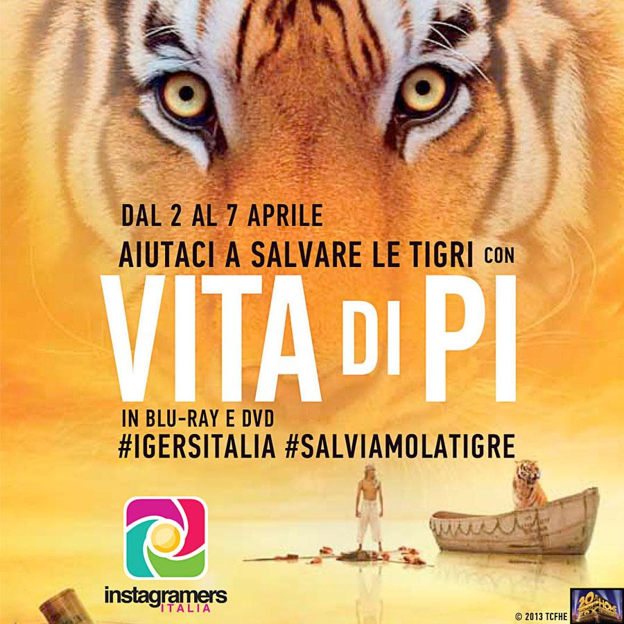 Adotta una tigre con Instagramers Italia