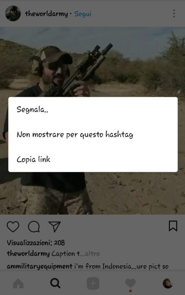 segnalare contenuti instagram