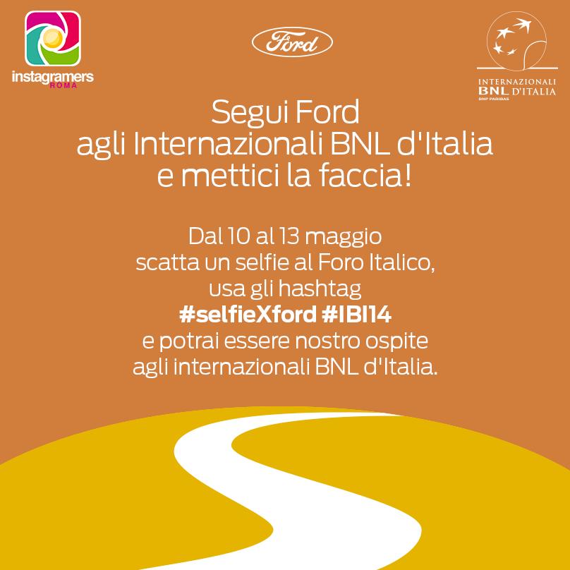 Mettici la faccia con #selfieXford agli Internazionali BNL d'Italia