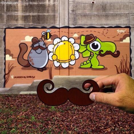 """La streetart di """"Un anno col sorriso"""""""