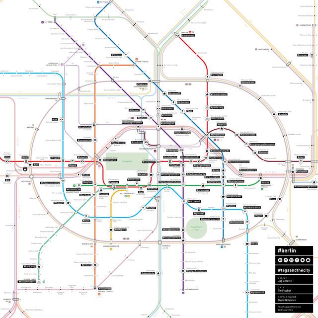 Gli hashtag arrivano anche sulle mappe della metropolitana