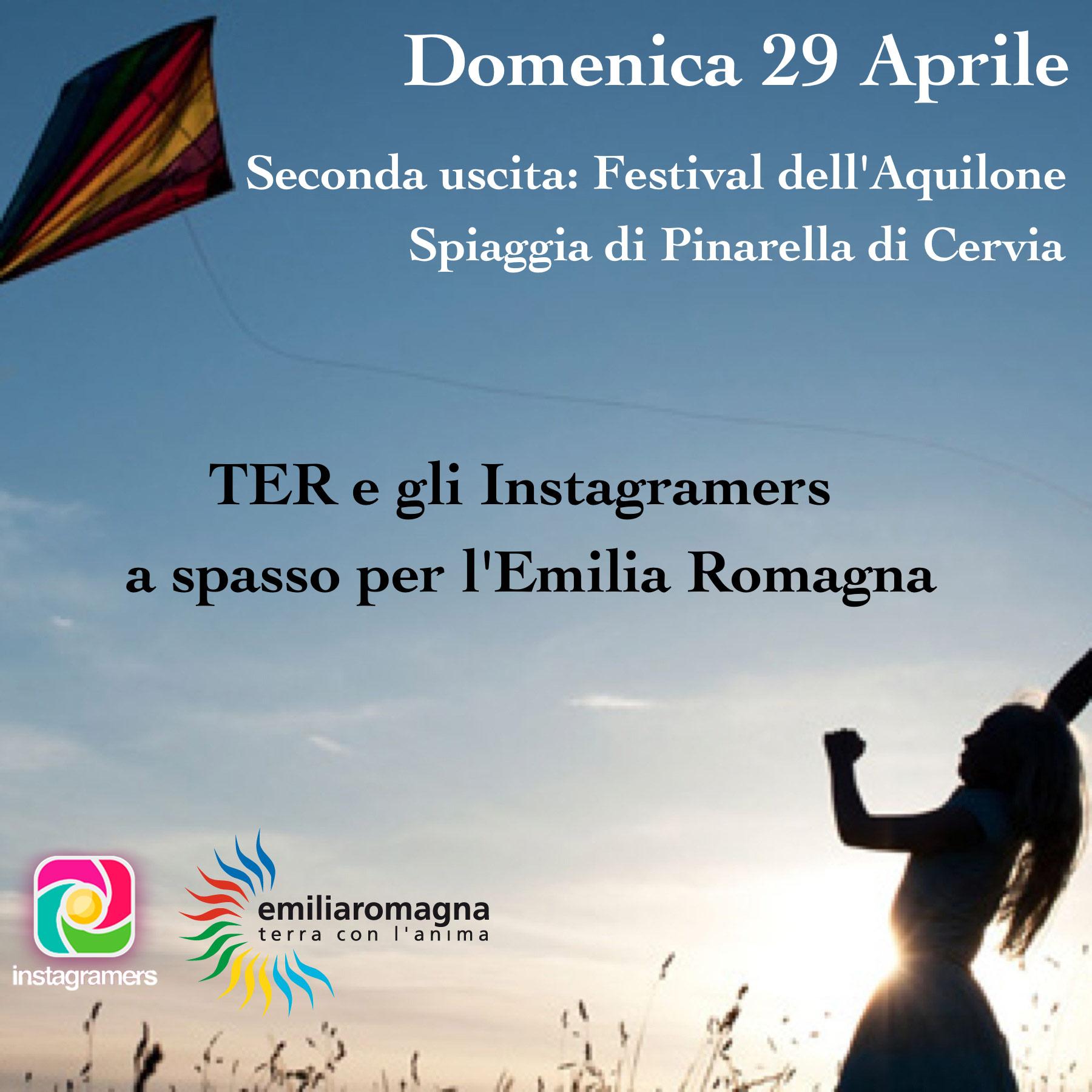 """""""TER e gli Igers a spasso per l'Emilia Romagna"""" – Uscita Aquiloni"""