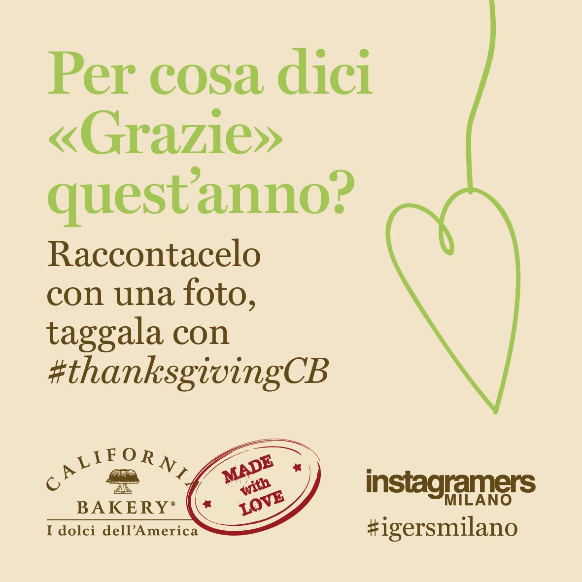 E tu, per cosa ringrazi? Partecipa al challenge #thanksgivingCB con IgersMilano