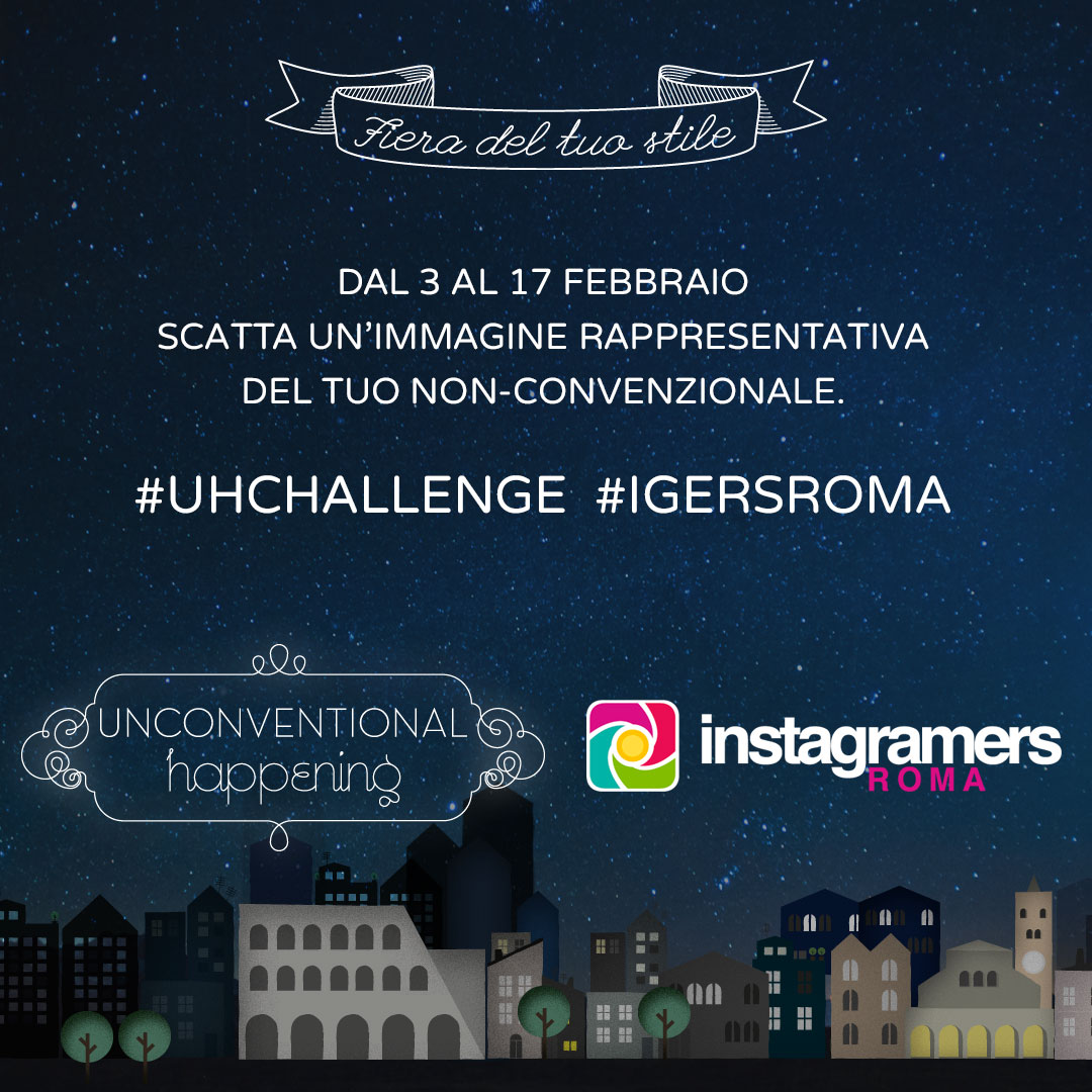 IgersRoma e Unconventional Happening – Challenge, Workshop e Tour!