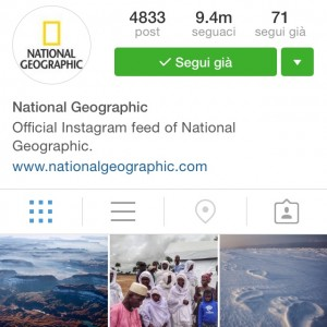 Profilo instagram National Geographic