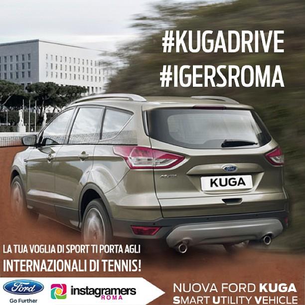 Vinci gli Internazionali di Tennis con IgersRoma e Ford Kuga