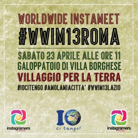 #WWIM13Roma, un Instameet a Villa Borghese per celebrare l'Earth Day